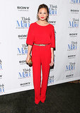 Forget the little red dress; Chrissy Teigen opted for a fiery jumpsuit, featuring a figure-flattering cinched waist and slim-fit pant leg, for the NYC screening of Think Like a Man in April 2012. Where to Wear: High tea with the girls. Laughs: required. Fancy hotel: optional.