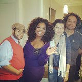 "Oprah Winfrey joked that she was ""fluffed and puffed"" and ready for the show. Source: Instagram user oprah"