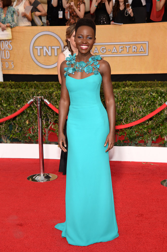 Lupita Nyong'o at the SAG Awards 2014