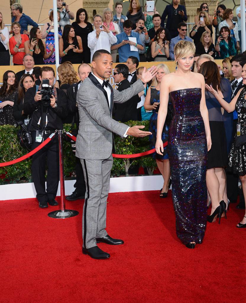 Cuba Gooding Jr. introduced Jennifer on the red carpet.