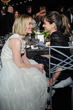 Sarah Paulson and Amanda Peet looked at each other adorably.