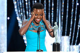 Lupita Nyong'o of 12 Years a Slave couldn't believe she won for supporting actress.