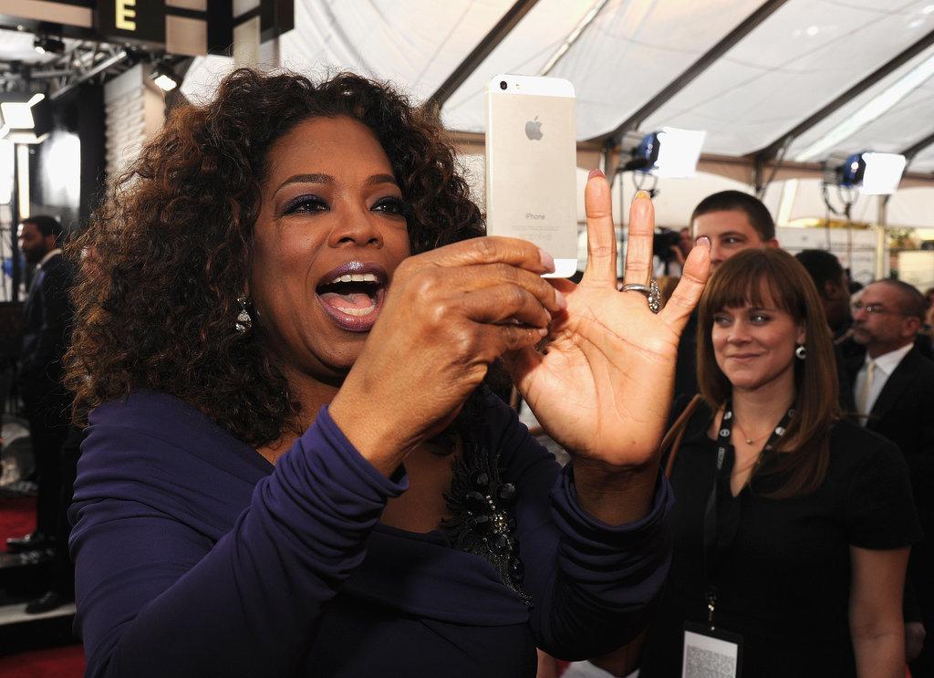 Oprah Winfrey captured a crowd moment.