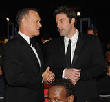 Ben Affleck chatted with Tom Hanks.