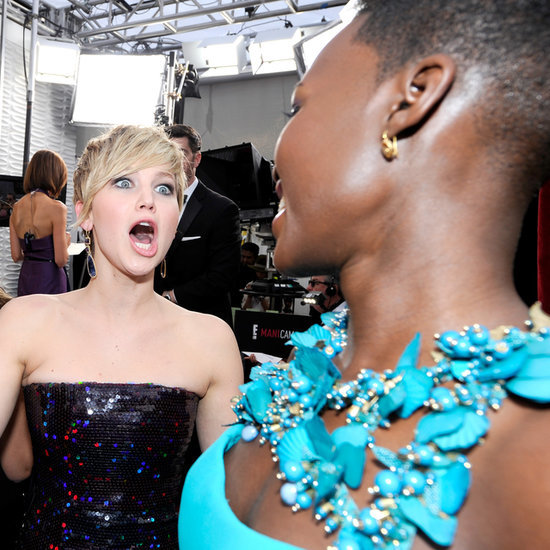 Jennifer Lawrence and Lupita Nyong'o at the SAG Awards 2014