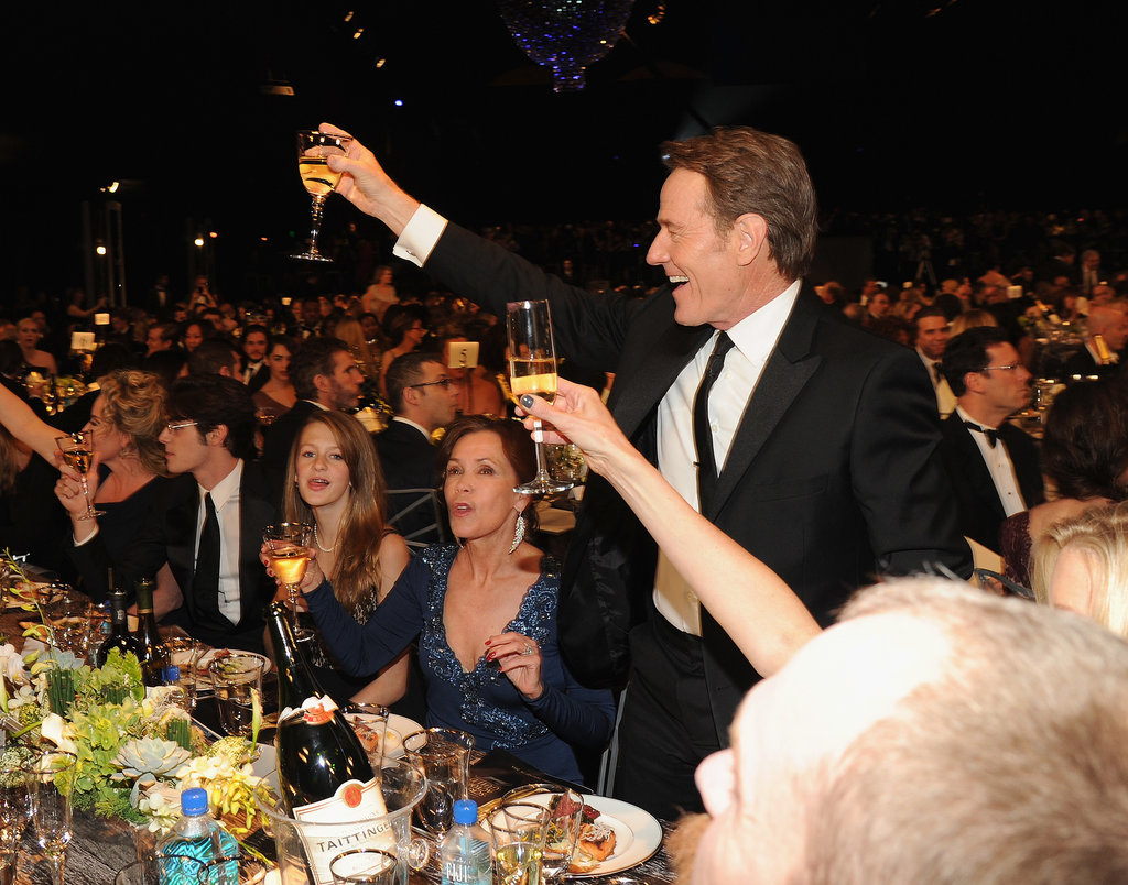 Bryan Cranston toasted to his table.