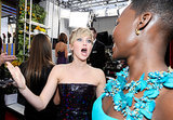 Jennifer Lawrence couldn't contain her excitement for Lupita Nyong'o.