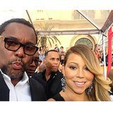 Mariah Carey joked around on the SAG Awards red carpet. Source: Instagram user mariahcarey