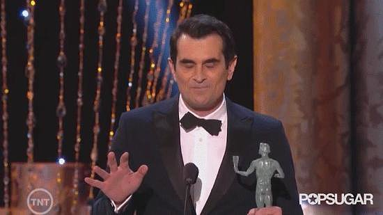 Ty Burrell Pretending to Forget His Acceptance Speech Advice