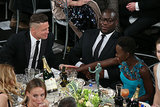 Brad Pitt held hands with Lupita Nyong'o.