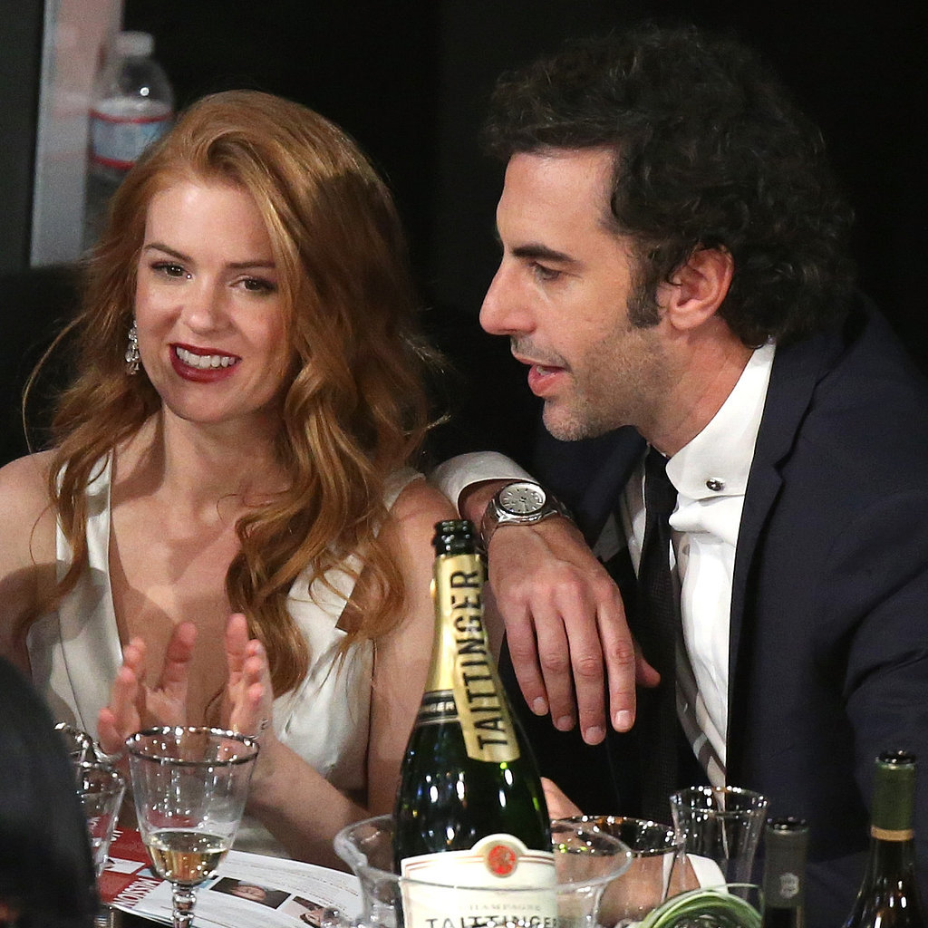 Isla Fisher and Sacha Baron Cohen at the SAG Awards 2014