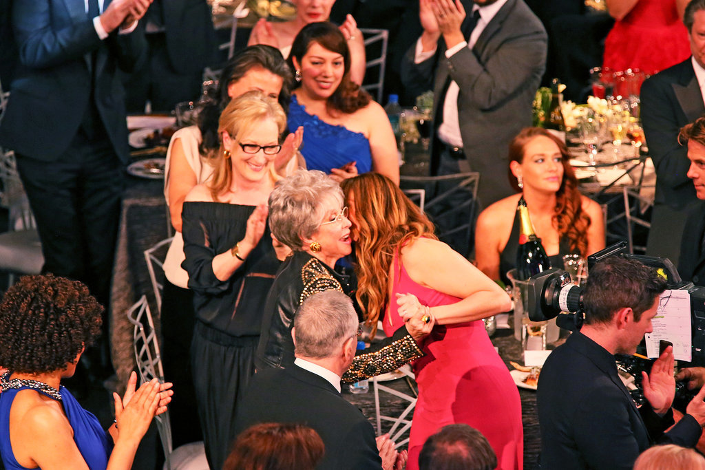 Julia Roberts and Meryl Streep stood up for winner Rita Moreno.