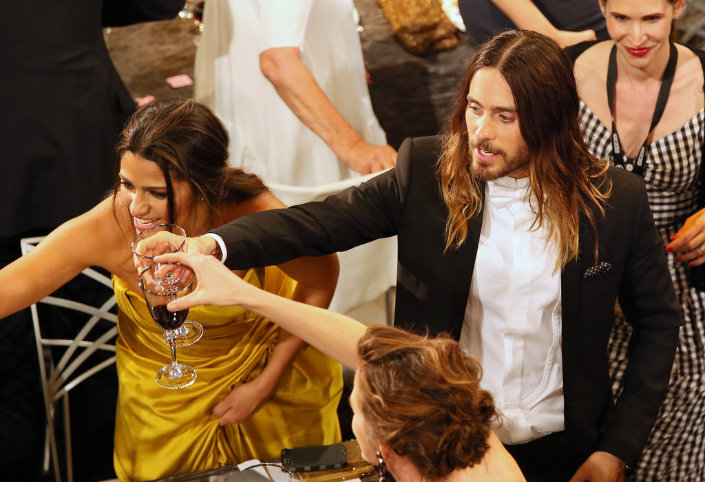 Jennifer Garner, Jared Leto, and Camila Alves raised their glasses.