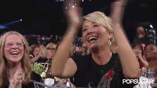 Emma Thompson Thoroughly Enjoying Bryan Cranston's Speech