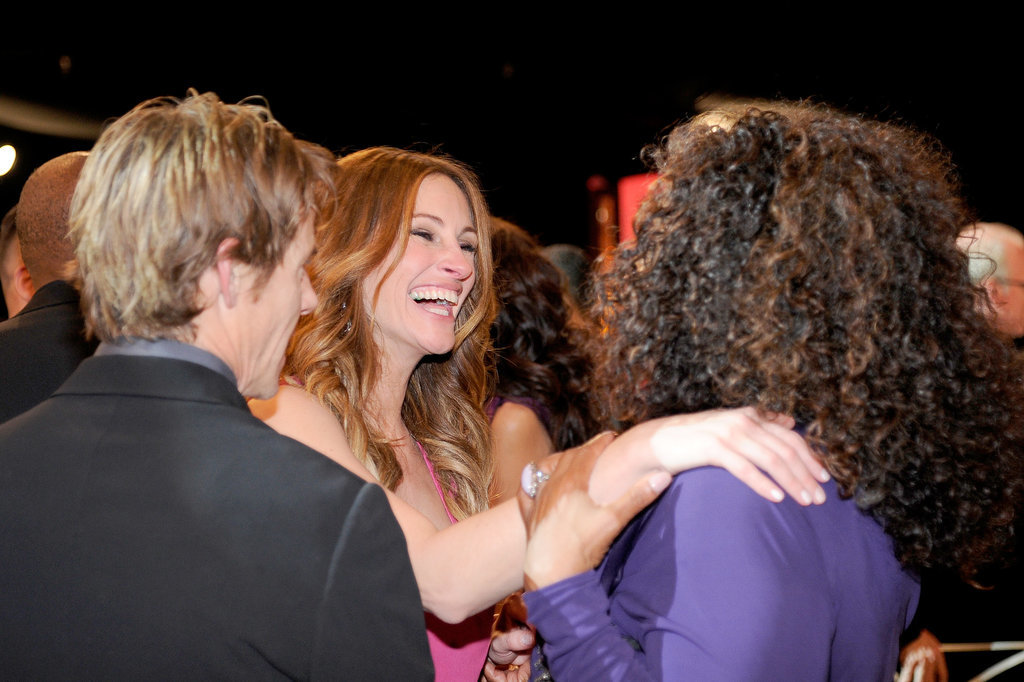 Julia Roberts laughed alongside Oprah Winfrey.