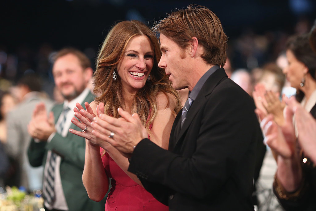 Julia Roberts flashed a big grin alongside Daniel Moder.