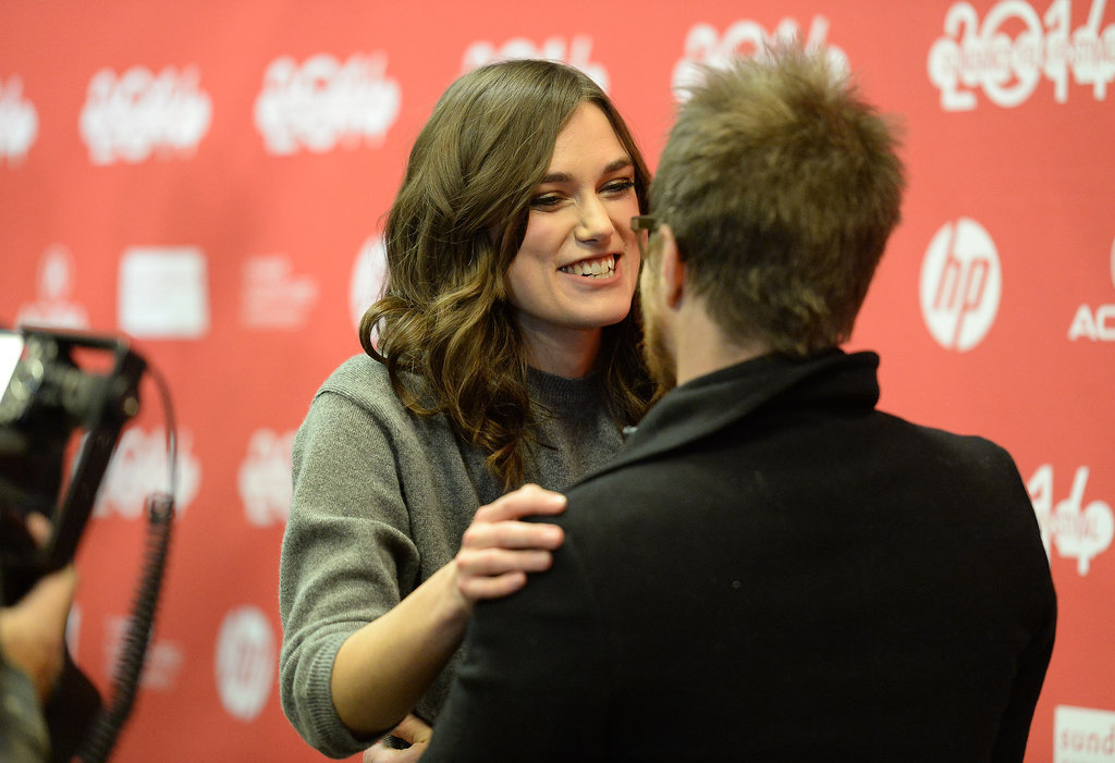 Keira Knightley shared a moment with Sam Rockwell at the Laggies premiere on Friday.