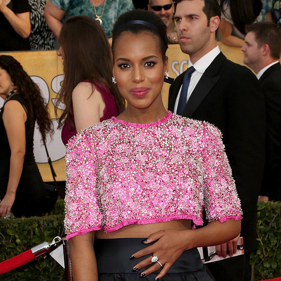 Kerry Washington Wears A Crop Top at SAG Awards