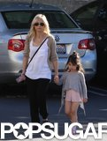 Sarah Michelle Gellar took her daughter, Charlotte, to her ballet class in LA on Saturday.