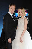 Benedict Cumberbatch made funny faces with Sarah Paulson.