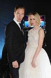 Benedict Cumberbatch made funny faces with Sarah Paulson.