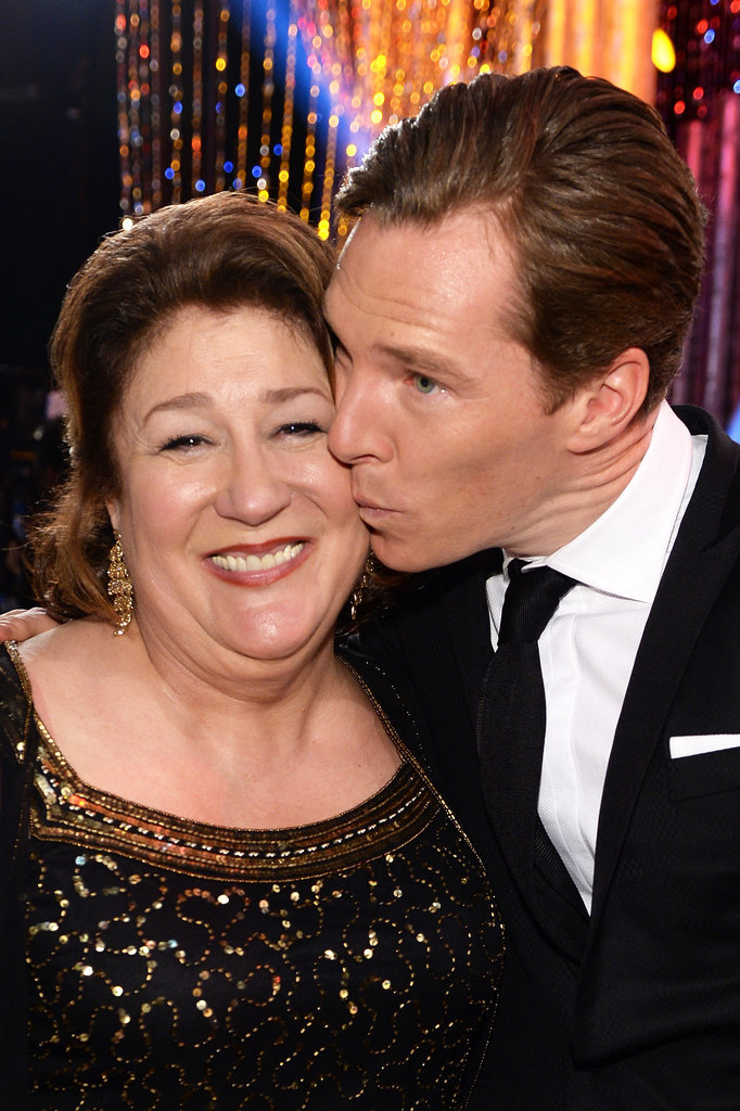 Benedict's lips touched Margo Martindale's skin!