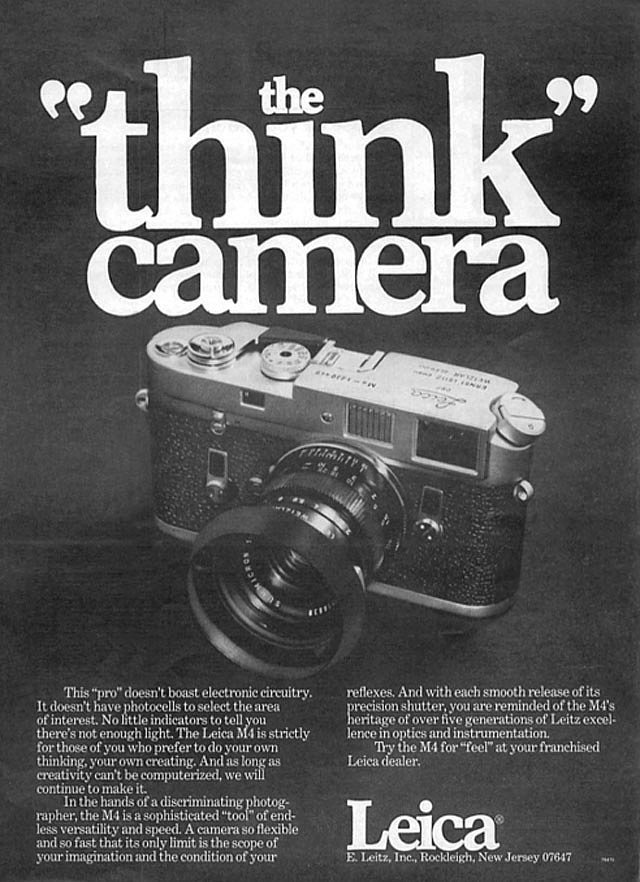 "The ""think"" camera — aka the camera for people who don't like to shoot on auto."