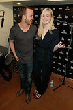 Elle Fanning joked around with Aaron Paul on Monday.