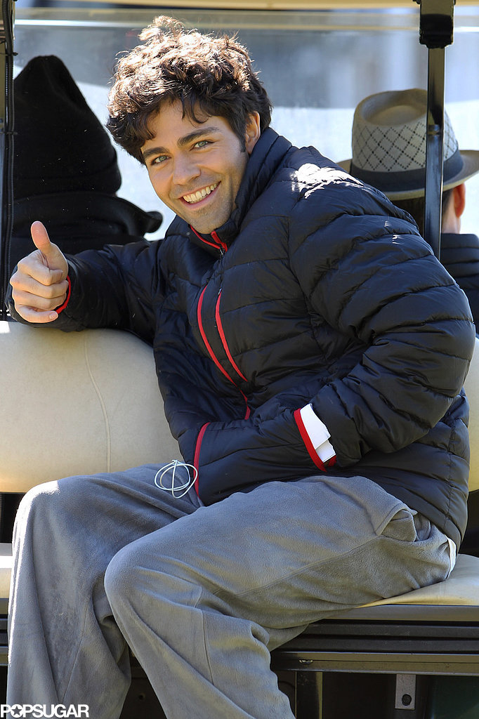 Adrian Grenier gave a thumbs up.