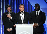 Brad Pitt gave an acceptance speech.