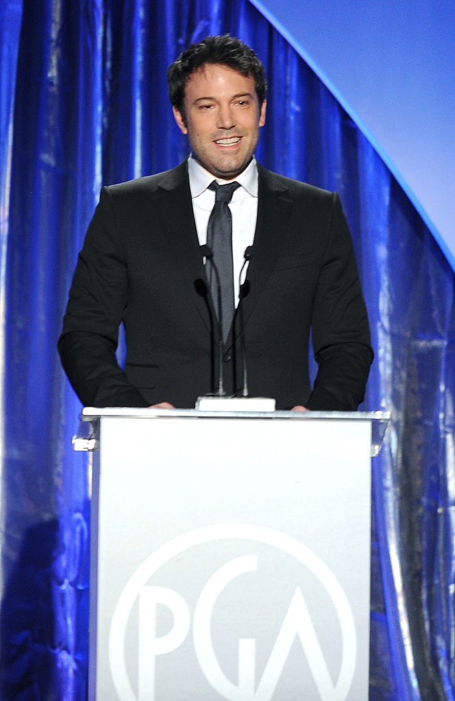Ben Affleck presented an award at the PGAs.