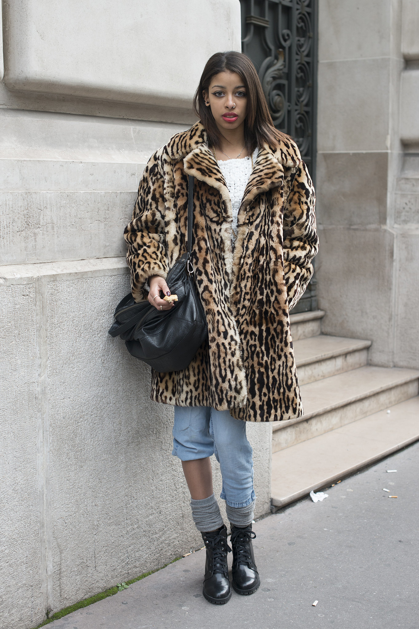 Another testament to the fact that we all need a leopard-print coat in our closets.