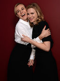 Diane Kruger and Brit Marling were adorable during a Sunday portrait session.