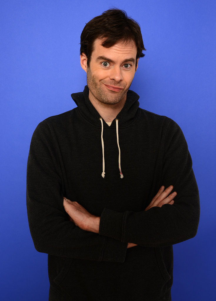 Bill Hader mugged for the cameras on Sunday.