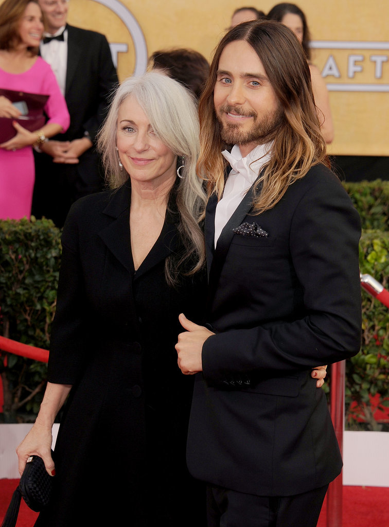 """Jared Leto brought the """"hottest date,"""" his mom, Connie."""