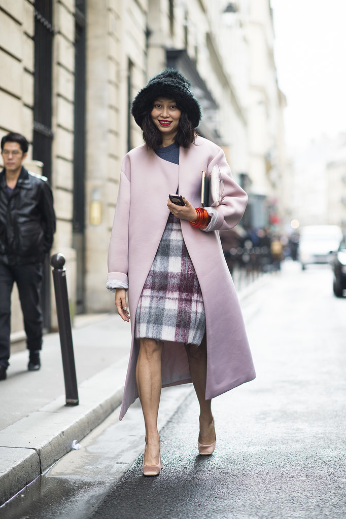 Something so infectiously girlie about a pink coat, no matter what's underneath.  Source: Le 21ème | Adam Katz Sinding