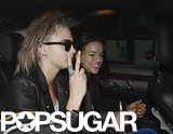 Cara Delevingne and Michelle Rodriguez started the party in their car.