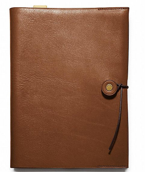 Ideal for notes and inspiration, this leather notebook ($168) makes a handsome desk accessory.