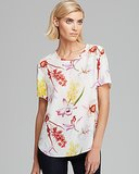 Equipment Riley Endangered Floral Print Silk T-Shirt