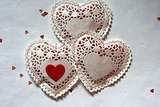 Doily Candy Hearts