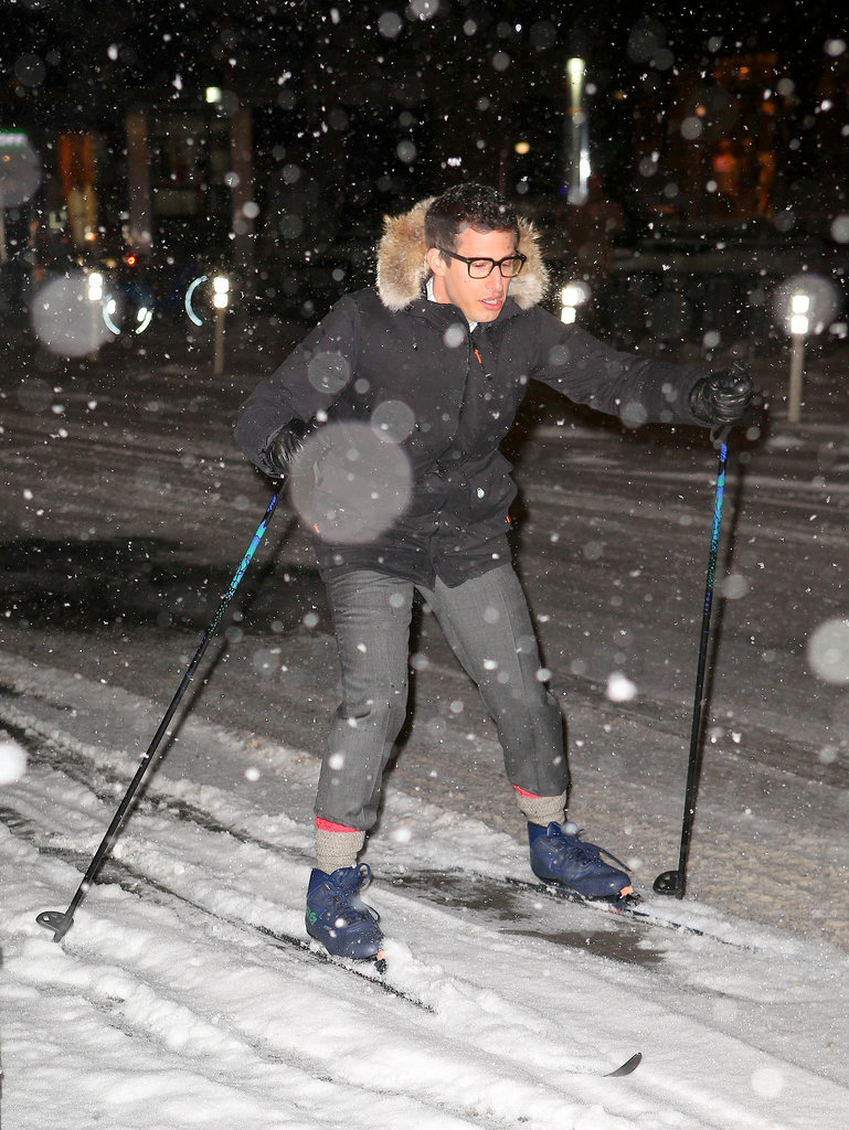 Andy Samberg Skis the Streets of NYC