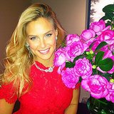 Bar Refaeli showed off gorgeous blooms and some even more gorgeous baubles. Source: Instagram user barrefaeli