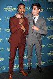 Michael B. Jordan and Zac Efron joked around at the premiere of their latest flick, That Awkward Moment, in NYC.
