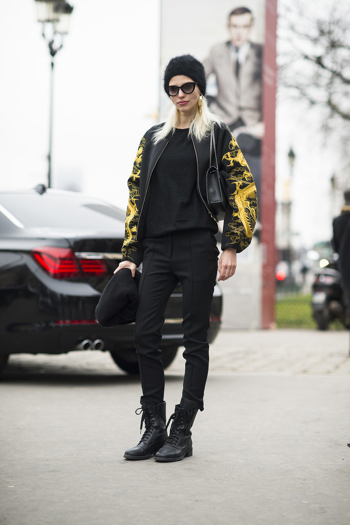 Tough-girl with a Versace-inspired twist. Source: Le 21ème | Adam Katz Sinding