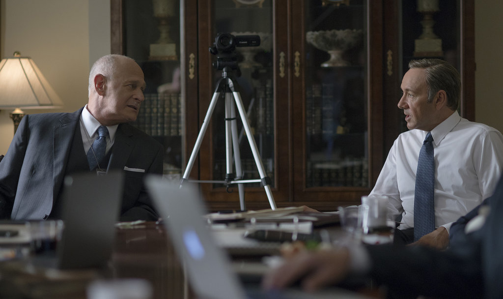 Raymond and Frank chat on House of Cards. Source: Netflix