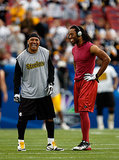Larry Fitzgerald basked in warm temperatures during the 2009 game in Tampa, FL.