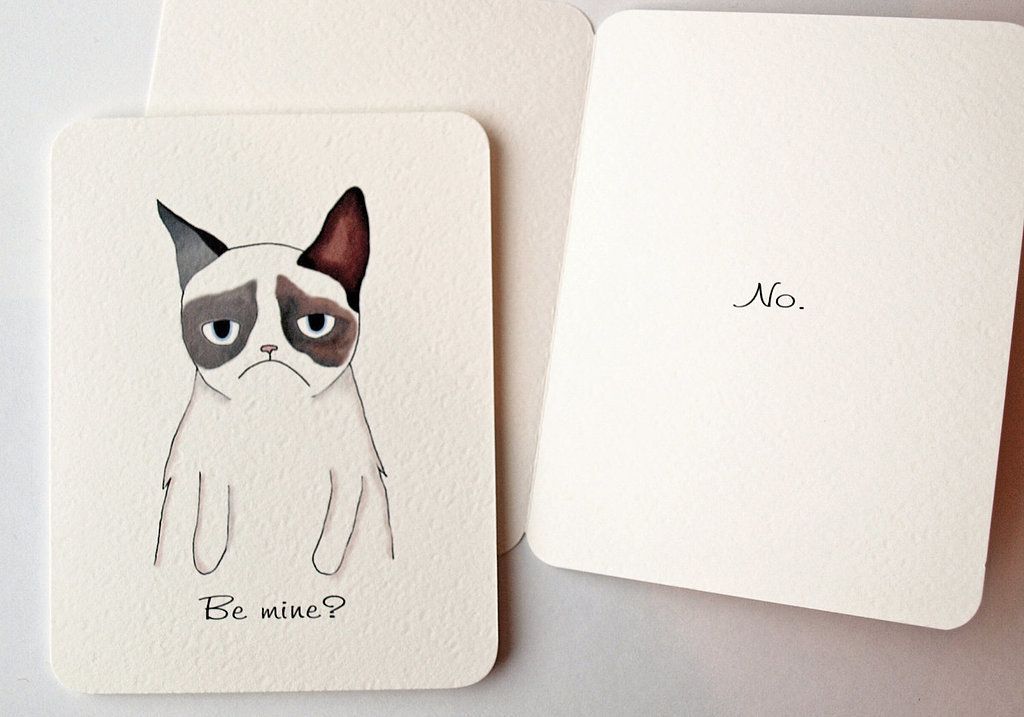 Grumpy Cat-inspired valentine ($5)