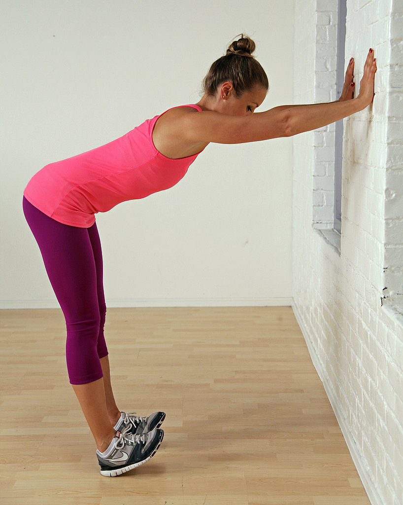 Calf and Shoulder Stretch at the Wall