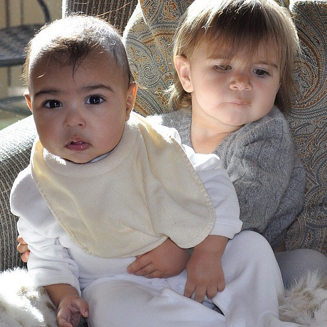 In January, Kim showed off North with her cousin Penelope. 