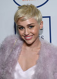 Miley Cyrus was all smiles.